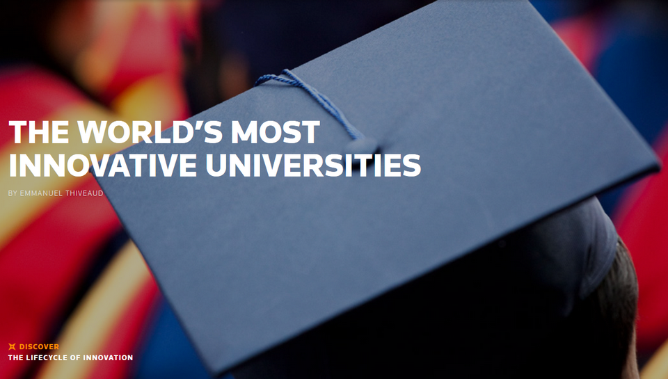 State Of Innovation - The World's Most Innovative Universities